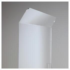 Protective plexiglass divider 80x100 cm window 30x50 cm s6