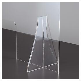 Protective plexiglass divider 80x100 cm window 30x50 cm s7