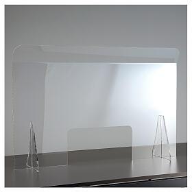 Protective plexiglass divider 80x100 cm window 30x50 cm s8