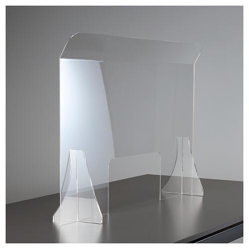 Protective plexiglass divider 80x100 cm window 30x50 cm 2