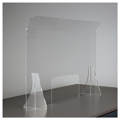 Protective plexiglass divider 80x100 cm window 30x50 cm 4