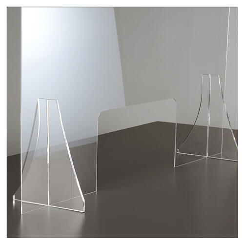 Protective plexiglass divider 80x100 cm window 30x50 cm 5