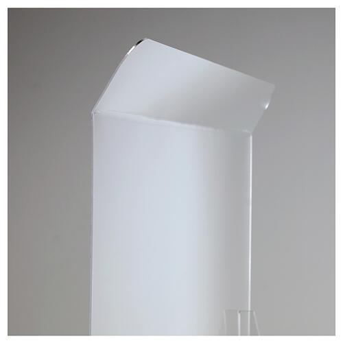 Protective plexiglass divider 80x100 cm window 30x50 cm 6