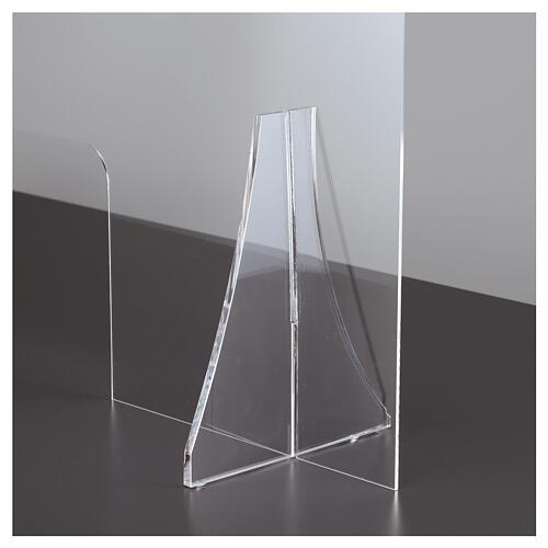 Protective plexiglass divider 80x100 cm window 30x50 cm 7