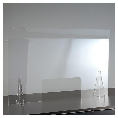 Protective plexiglass divider 80x100 cm window 30x50 cm 8