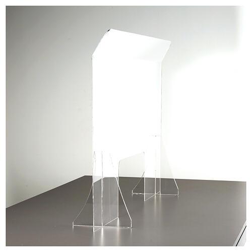 Protective plexiglass divider 80x100 cm window 30x50 cm 9