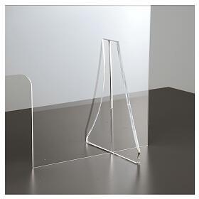 Barrière de protection plexiglas 80x100 cm fenêtre 30x50 cm s3
