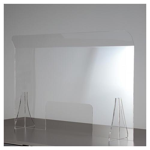 Barrière de protection plexiglas 80x100 cm fenêtre 30x50 cm 1