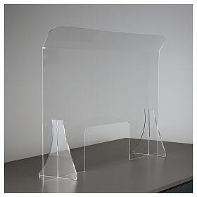 Divisorio protettivo plexiglass 80x100 cm finestra 30x50 cm s4