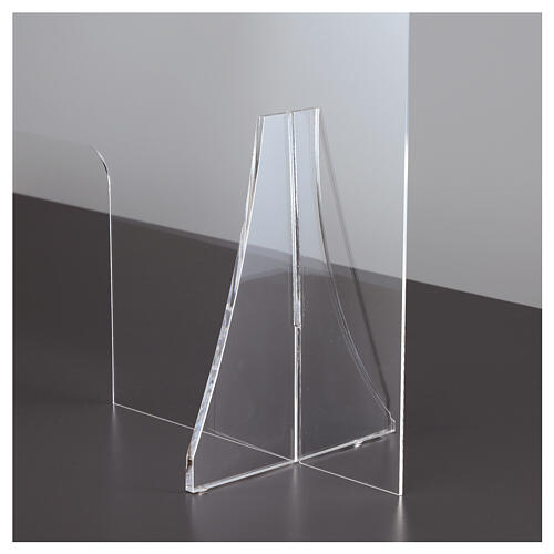 Divisorio protettivo plexiglass 80x100 cm finestra 30x50 cm 7