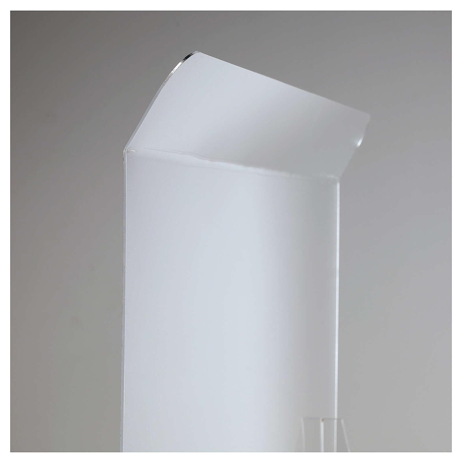 Przegroda ochronna antywirusowa pleksiglas 80x100 cm okno 30x50 cm 3