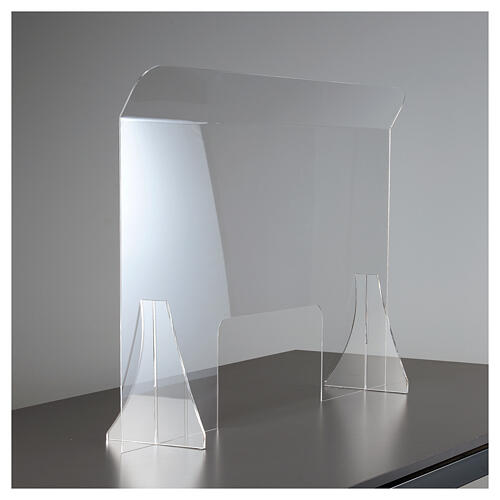 Przegroda ochronna antywirusowa pleksiglas 80x100 cm okno 30x50 cm 2