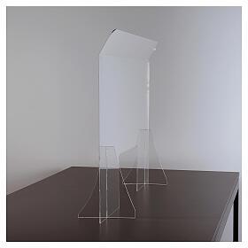 Plexiglas-Schutzwand 65x100 cm, 8 mm dick s3