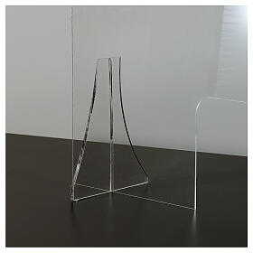 Plexiglas-Schutzwand 65x100 cm, 8 mm dick s4