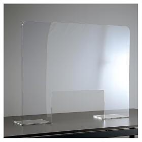 Plexiglass protection screen 65x100 cm thickness 8 mm s1