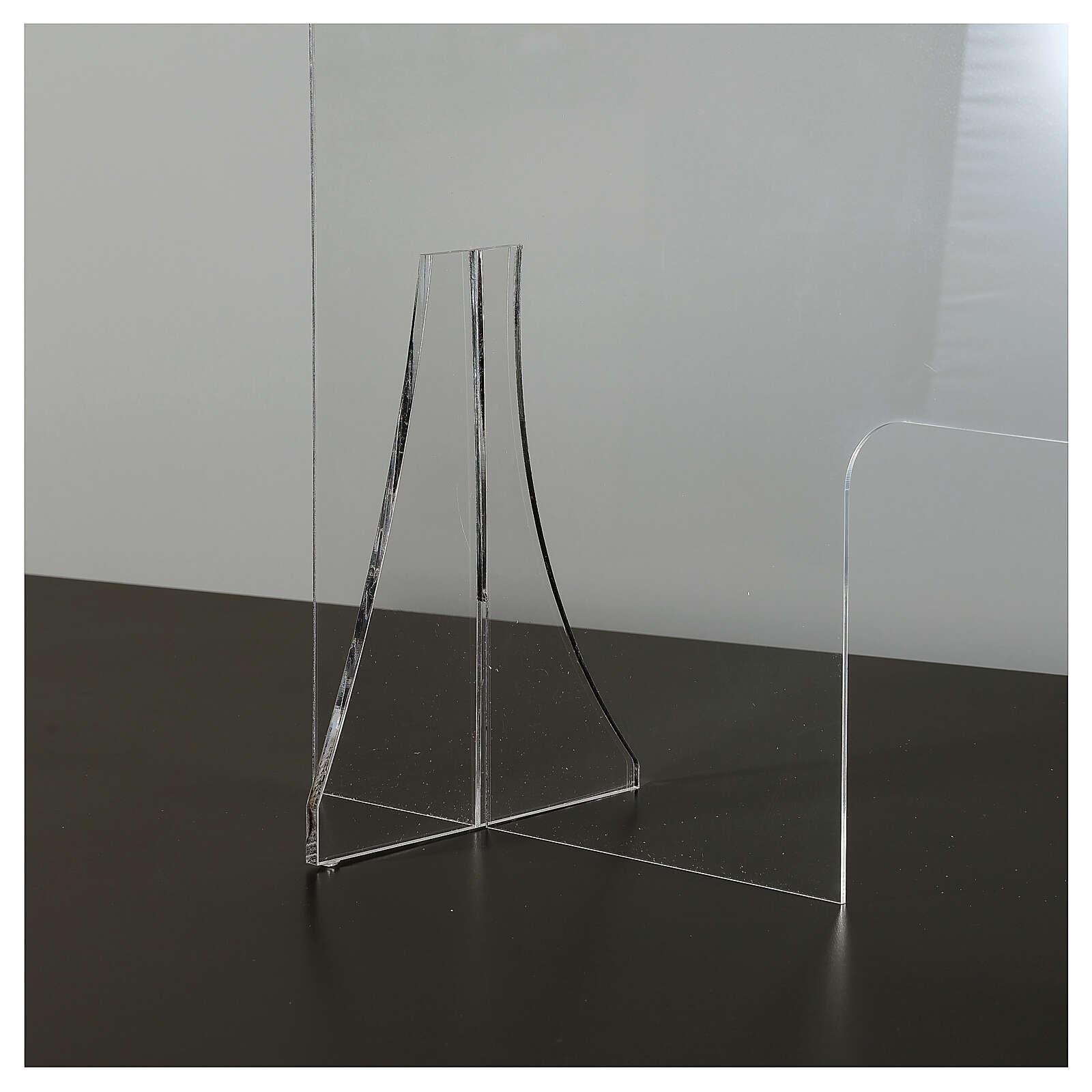 Pantalla protección plexiglás 65x100 cm espesor 8 mm 3