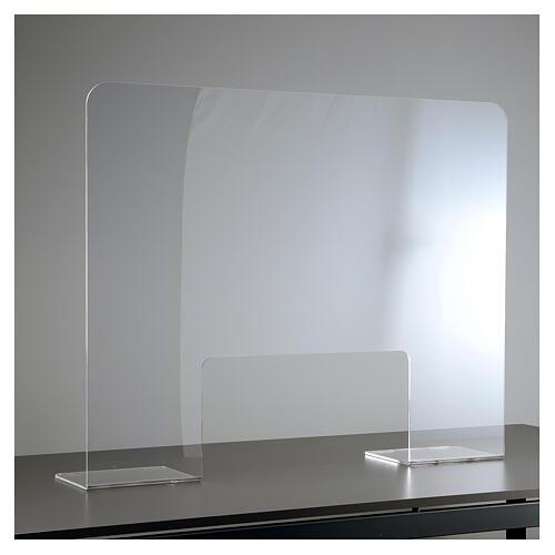 Pantalla protección plexiglás 65x100 cm espesor 8 mm 1