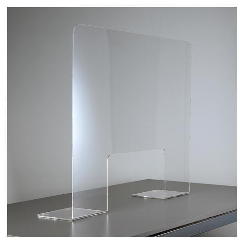 Pantalla protección plexiglás 65x100 cm espesor 8 mm 2