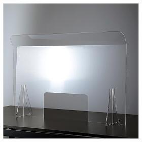 Schermo protezione plexiglass 65x100 cm spessore 8 mm s1