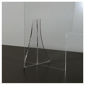 Schermo protezione plexiglass 65x100 cm spessore 8 mm s4
