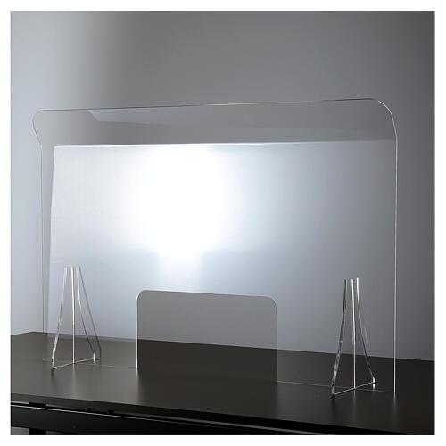 Schermo protezione plexiglass 65x100 cm spessore 8 mm 1