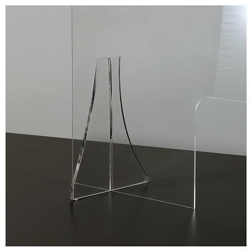 Schermo protezione plexiglass 65x100 cm spessore 8 mm 4