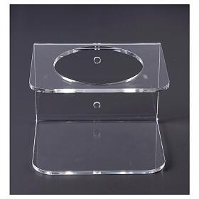 Wandhalter aus transparentem Plexiglas für Händedesinfektionsmittel s1