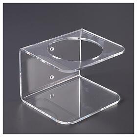 Wandhalter aus transparentem Plexiglas für Händedesinfektionsmittel s3