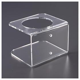 Wandhalter aus transparentem Plexiglas für Händedesinfektionsmittel s5