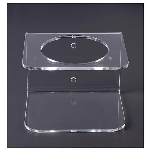 Wandhalter aus transparentem Plexiglas für Händedesinfektionsmittel 1