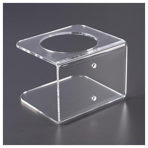 Wandhalter aus transparentem Plexiglas für Händedesinfektionsmittel 5