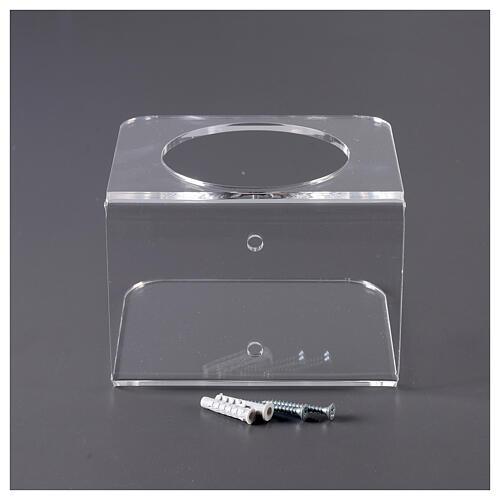 Wandhalter aus transparentem Plexiglas für Händedesinfektionsmittel 6