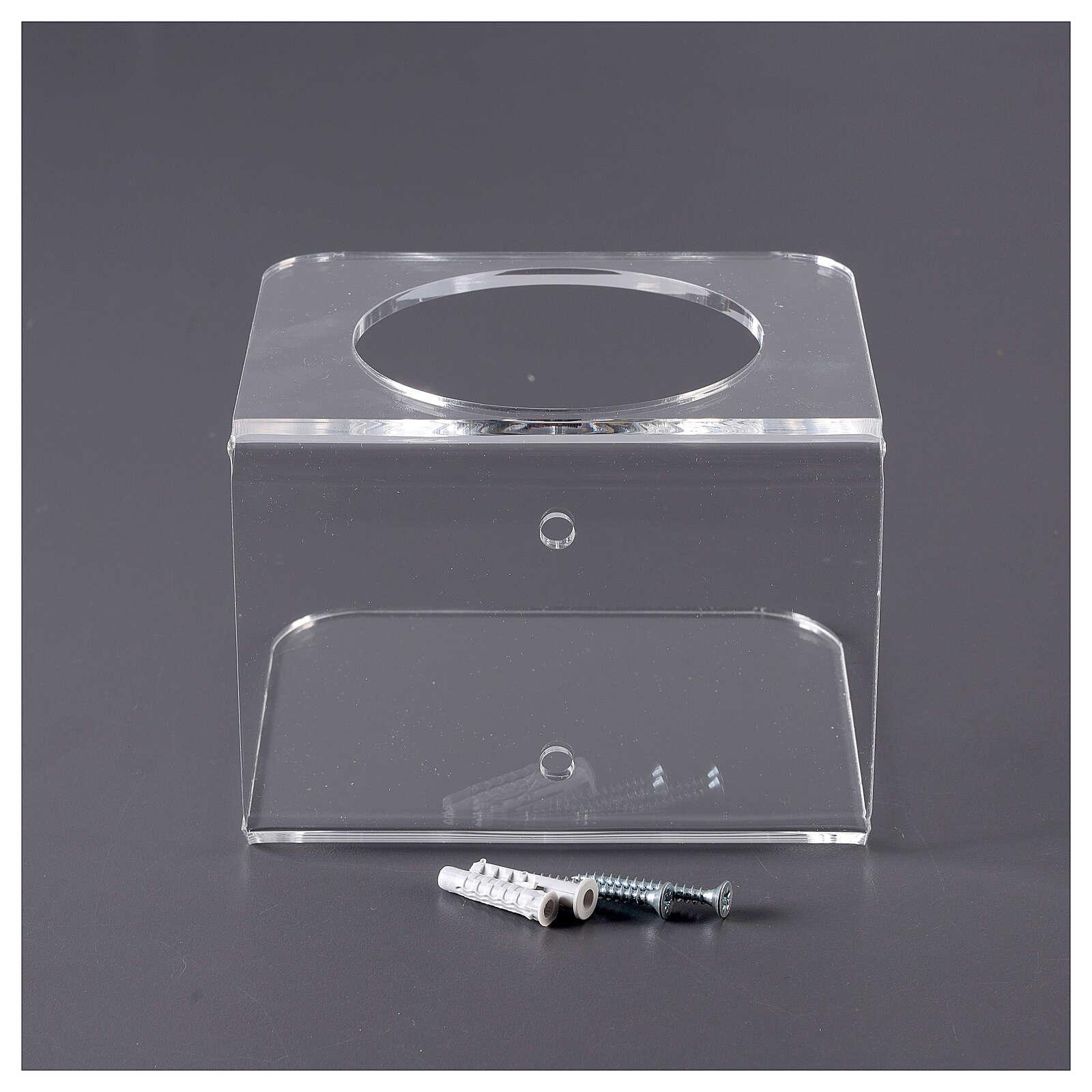 Uchwyt ścienny dozownika środka do dezynfekcji rąk pleksiglas 3