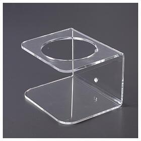 Suporte de parede acrílico para distribuidor de gel desinfetante para mãos s4