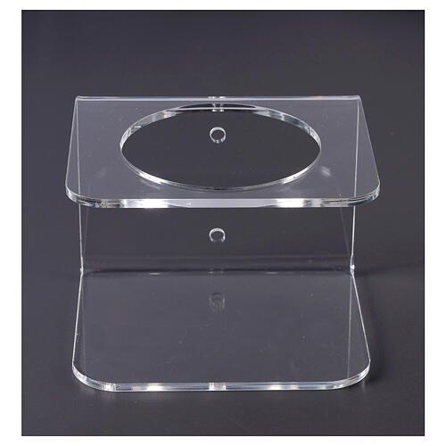 Suporte de parede acrílico para distribuidor de gel desinfetante para mãos 1