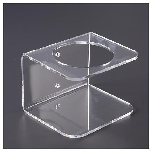 Suporte de parede acrílico para distribuidor de gel desinfetante para mãos 3