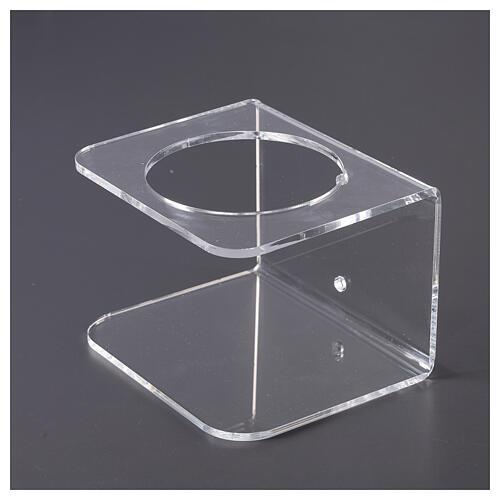 Suporte de parede acrílico para distribuidor de gel desinfetante para mãos 4