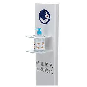 Porta Dispenser per disinfettante mani forex e plexiglass ESTERNO s2