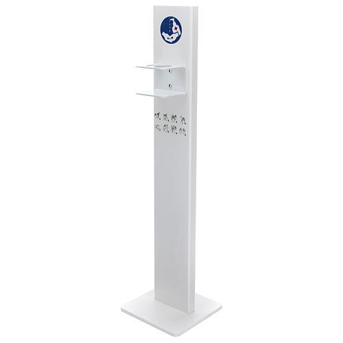 Porta Dispenser per disinfettante mani forex e plexiglass ESTERNO 1