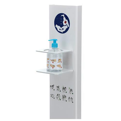 Porta Dispenser per disinfettante mani forex e plexiglass ESTERNO 2