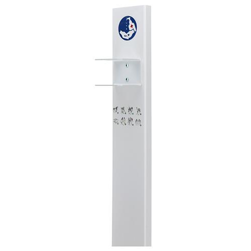 Porta Dispenser per disinfettante mani forex e plexiglass ESTERNO 4