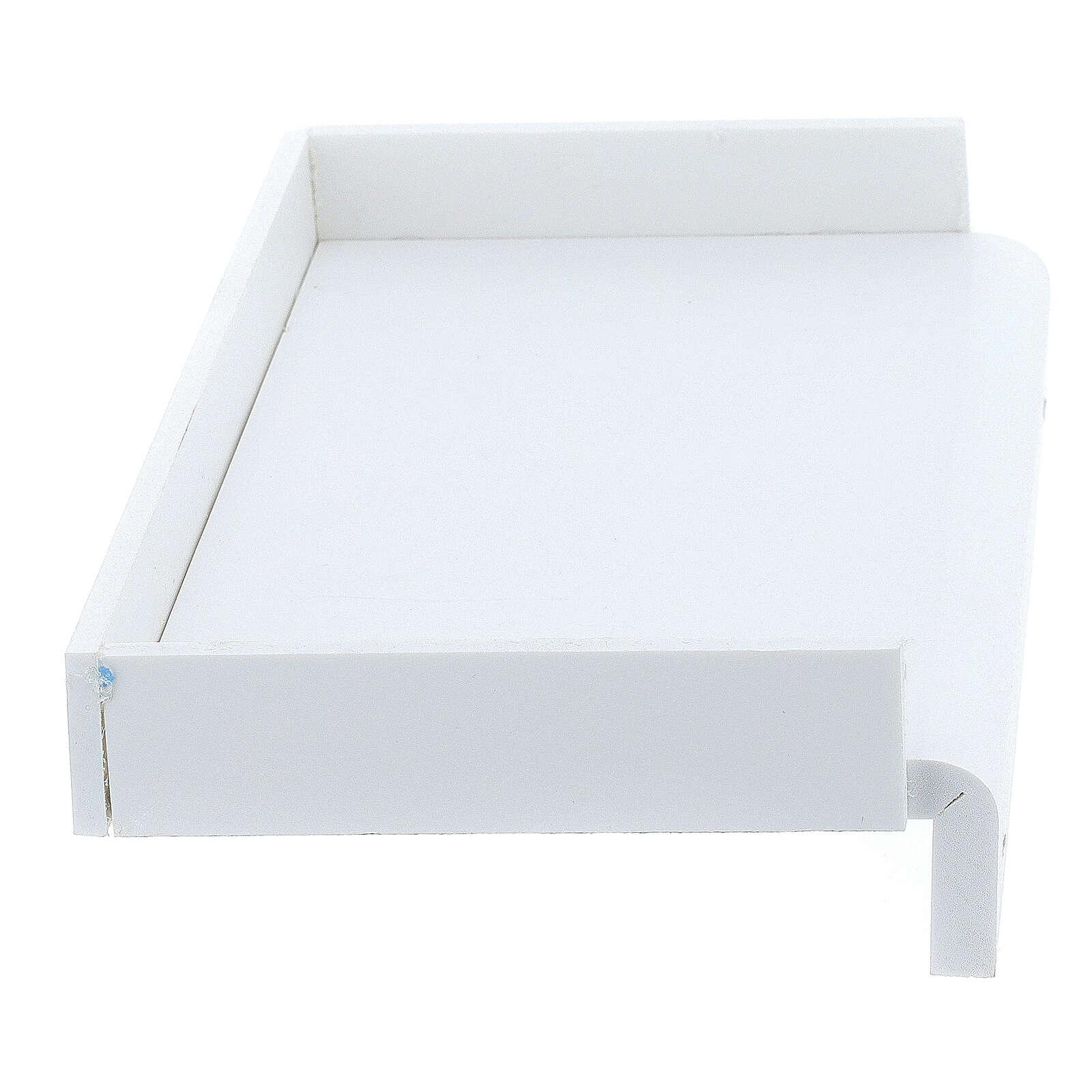 Estante para caixa de luvas 14x17 cm forex com parafusos para coluna PF000003 3