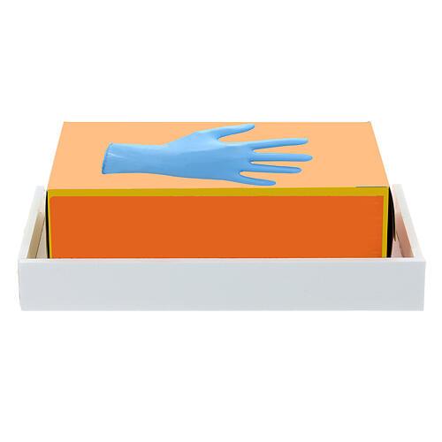 Estante para caixa de luvas 14x17 cm forex com parafusos para coluna PF000003 2