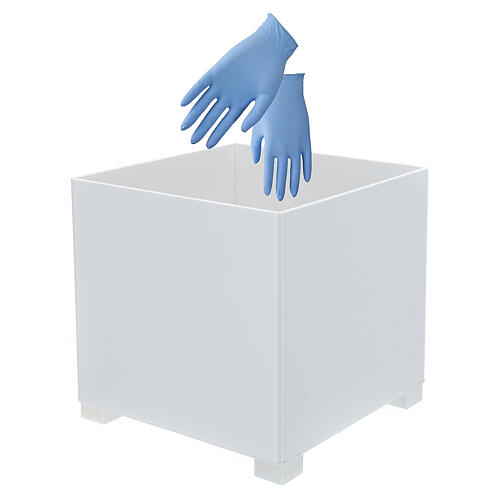 Waste bin for gloves in forex for dispenser PF000003 2