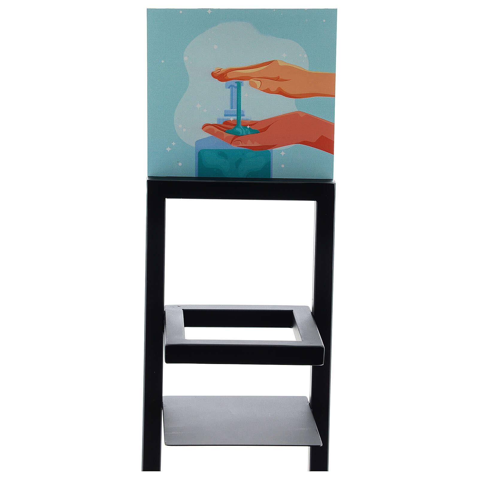 Porta Dispenser per gel igienizzante mani in ferro PER ESTERNI 3