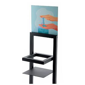 Porta Dispenser per gel igienizzante mani in ferro PER ESTERNI s2