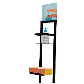 Porta Dispenser per gel igienizzante mani in ferro PER ESTERNI s3