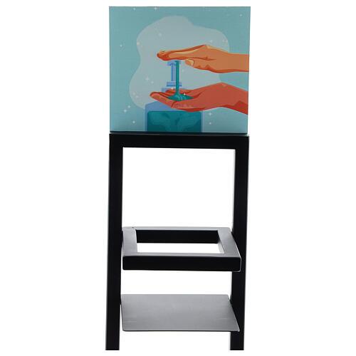 Porta Dispenser per gel igienizzante mani in ferro PER ESTERNI 6