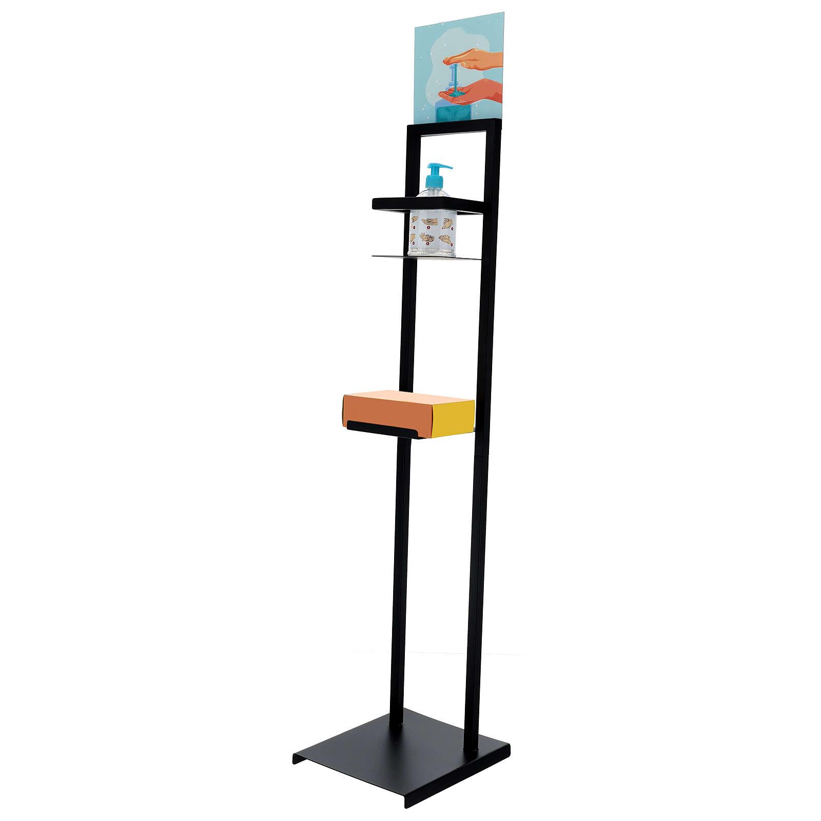Hand sanitizer dispenser stand in iron 3