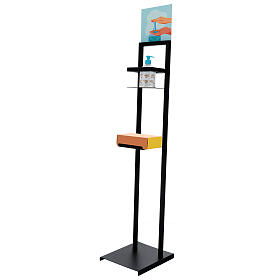Hand sanitizer dispenser stand in iron s4